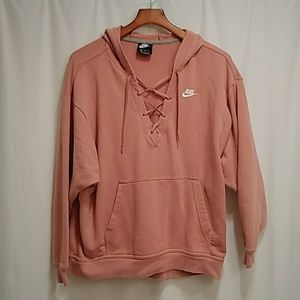 Nike ft lace up Hoodie